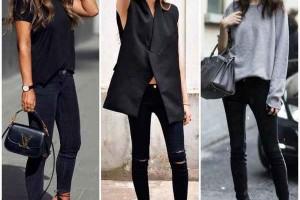Черные джинсы: 21 оригинальная стилизация