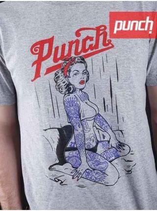 Футболка Punch - PinUp Girl, Grey