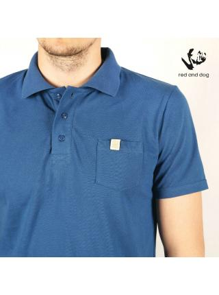 King Red and Dog (blue) polo