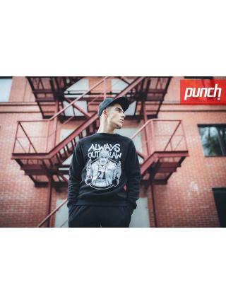Свитшот Punch - Always Outlaw, Molotov, Black