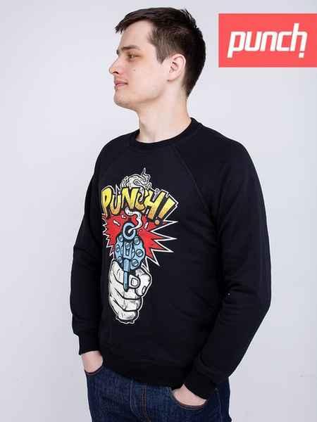Sweatshirt Punch - Gun Shot, Spring, Black