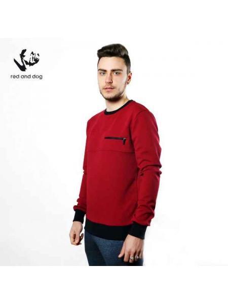 Corn Red and Dog (burgundi) sweatshirt