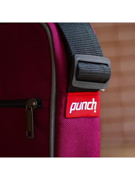 Shoulder bag Punch - Block, Bordo
