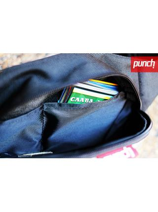 Waist bag Punch - black/grey