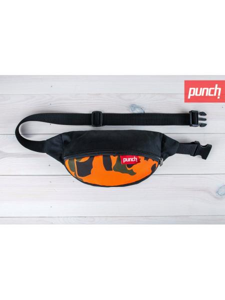 Waist bag Punch - black/Camo Mars