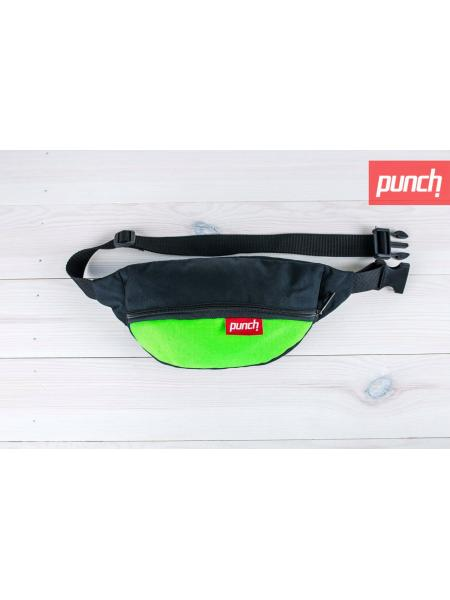 Waist bag Punch - black/Acid green