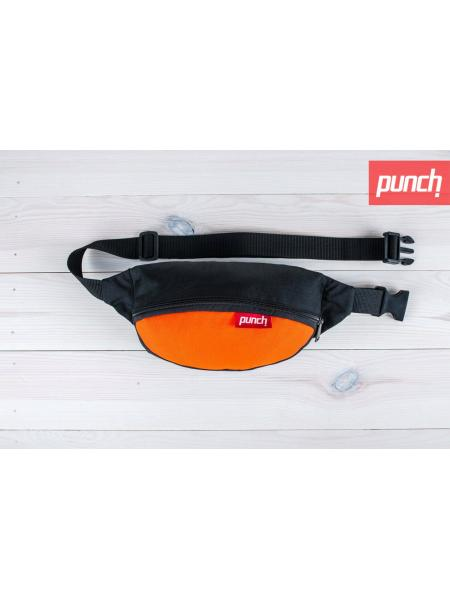 Waist bag Punch - black/orange
