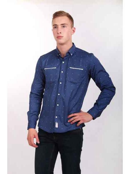 Рубашка Nils (сапфировый)