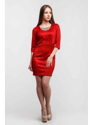 Платье Замш Доратти (красный)