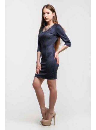 Платье Замш Доратти (серый темный)
