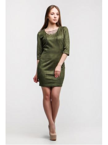 Платье Замш Доратти (хаки)