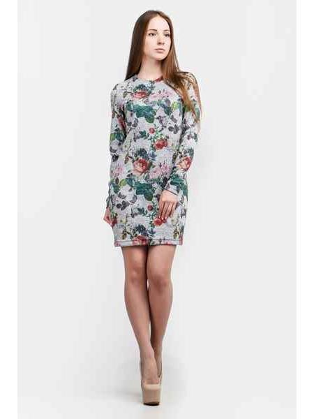 Платье Герда мини (серый)