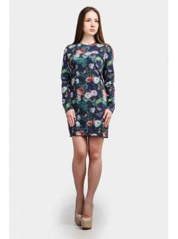 Платье Герда мини (синий темный)
