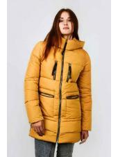 Женская куртка Альберта (горчичный)