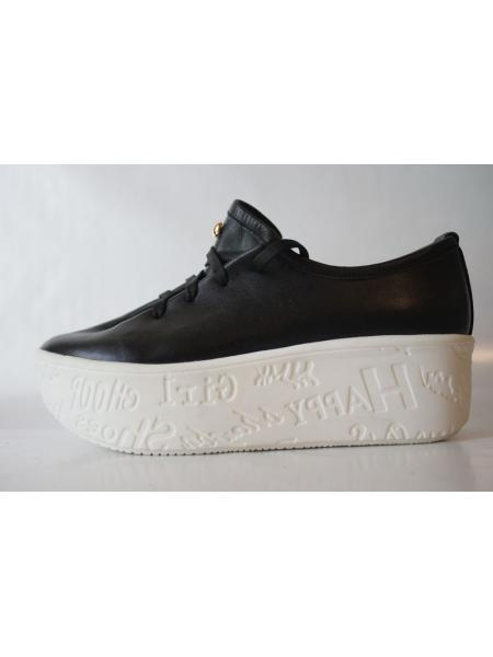 The Bat (black) leather sneakers
