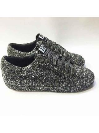 Кроссовки Disco (черный/серебристый)