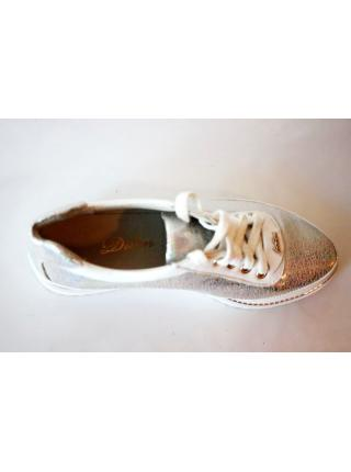 Fashion (Silver)  leather sneakers