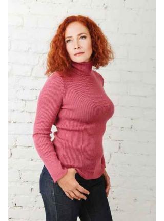Susan (amarant) turtleneck