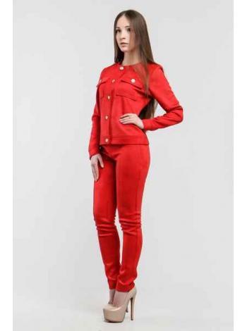 Брючный костюм Амрис (красный)