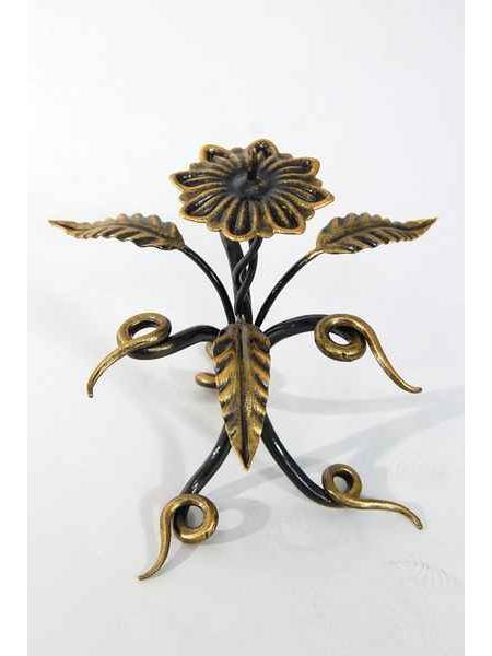 "Candlestick made of metal ""Fire flower"""