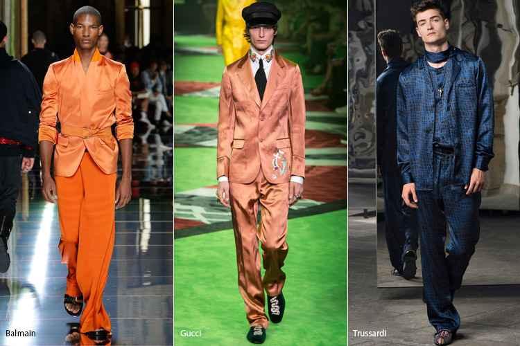 Шелковая мужская одежда