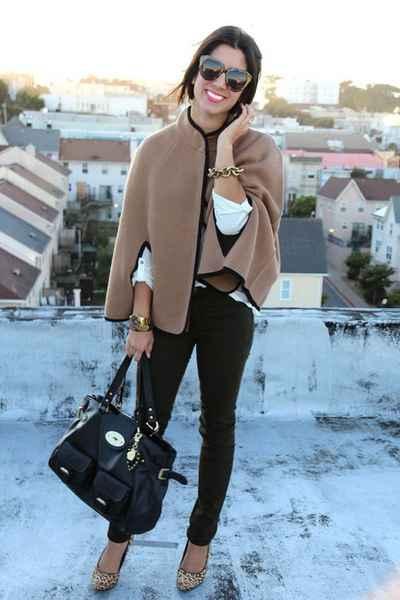 кашемировое женское пальто кейп