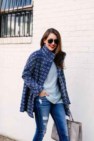 с чем носить твидовое пальто